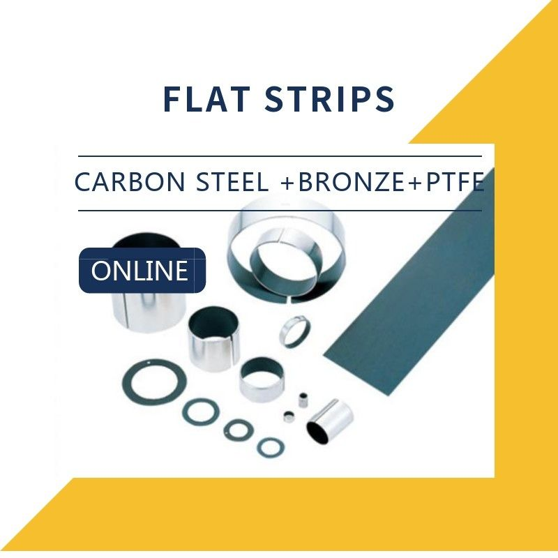 Carbon Steel + Bronze + PTFE + Strips Composite Bearings Cylindrical Bushings DIN 1494 supplier