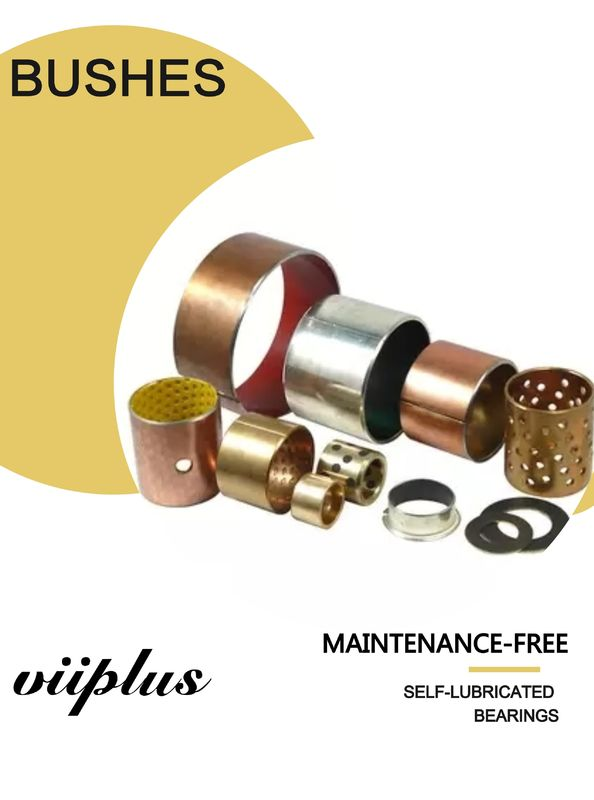 Garlock Bearing Metal - Polymer Plain Bearings | Cylindrical Thrust Bushing Tin / Copper Plating supplier