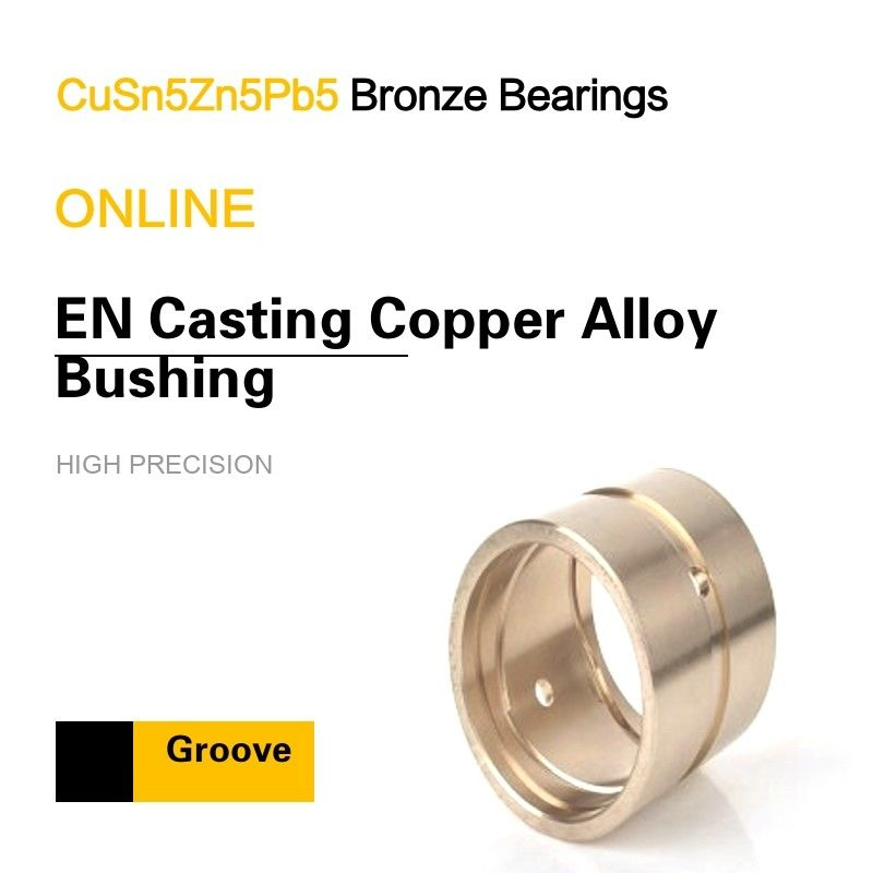 CuSn5Zn5Pb5 EN Casting Copper Alloy Bearing Custom & Special Groove Patterns supplier
