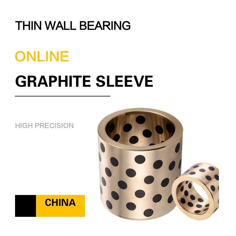 Thin Wall Copper Bearing With Graphite Self Lube Bronze Components For Press Dies supplier