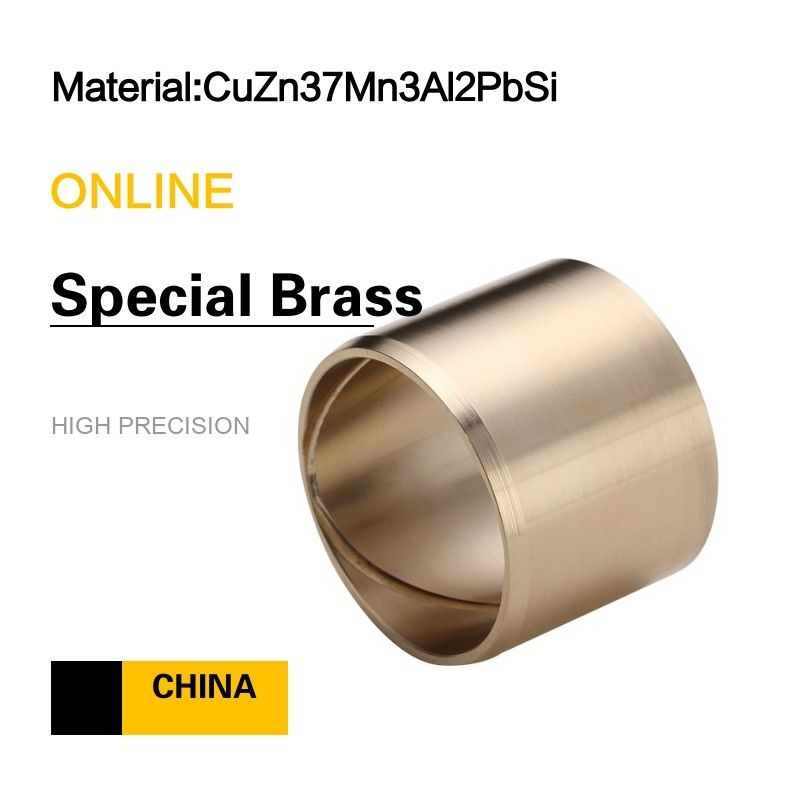 Special Brass CuZn37Mn3Al2PbSi EN Wrought Copper Alloy Bushings supplier
