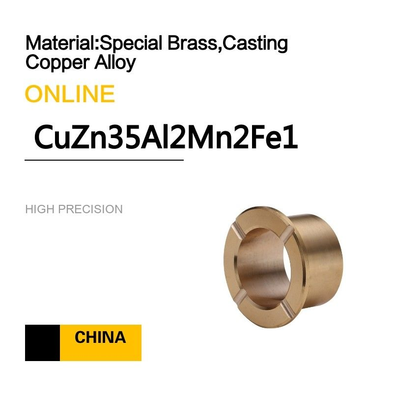 Casting Copper Alloy Bushings CuZn35Al2Mn2Fe1 Copper Alloy Bearings For Pumps &  Hydro - Electric supplier