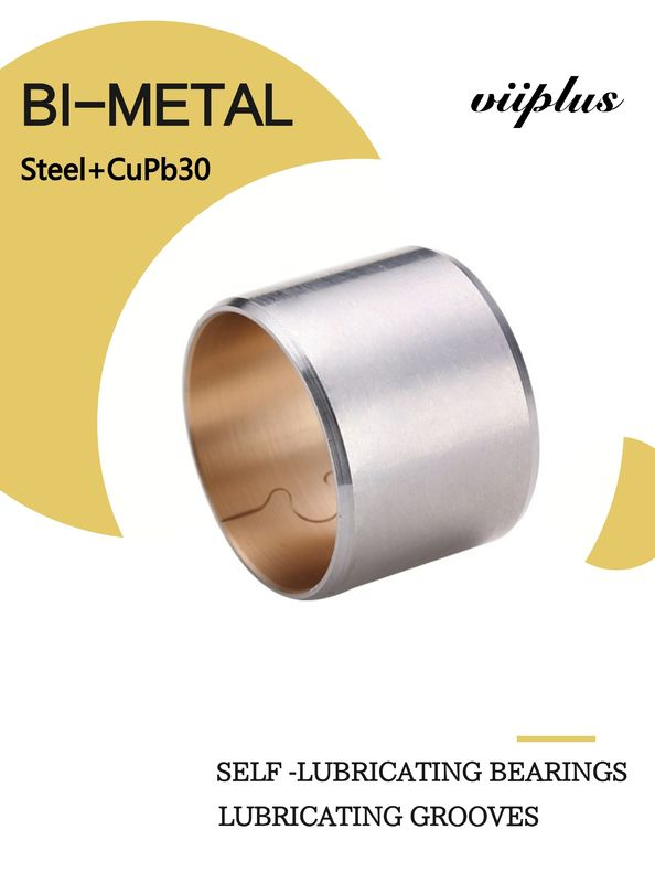 Copper Biemtal Sleeve Bushes Steel+CuPb30 with Lubricating Grooves 700 supplier