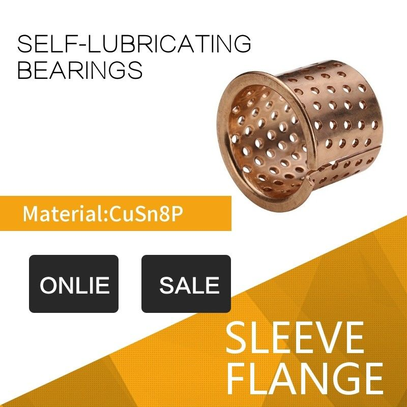 Flange Rolled CuSn8 Sliding Bearings Lubricating Sockets For Agricultural & Construction Machines supplier