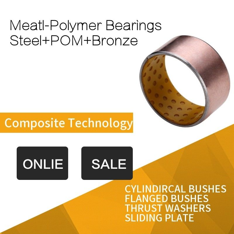 POM Indents Self Lubricating Plain Bearing Bronze Meatl Polymer Bearings Inch Costom Size supplier