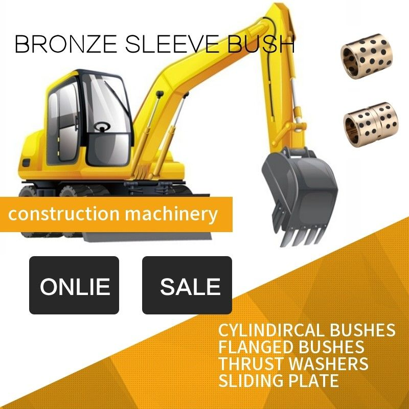 Construction Excavators Bronze Sleeve Bushing High-Power Performance Plug Graphite C86300 SAE430B Inch Size