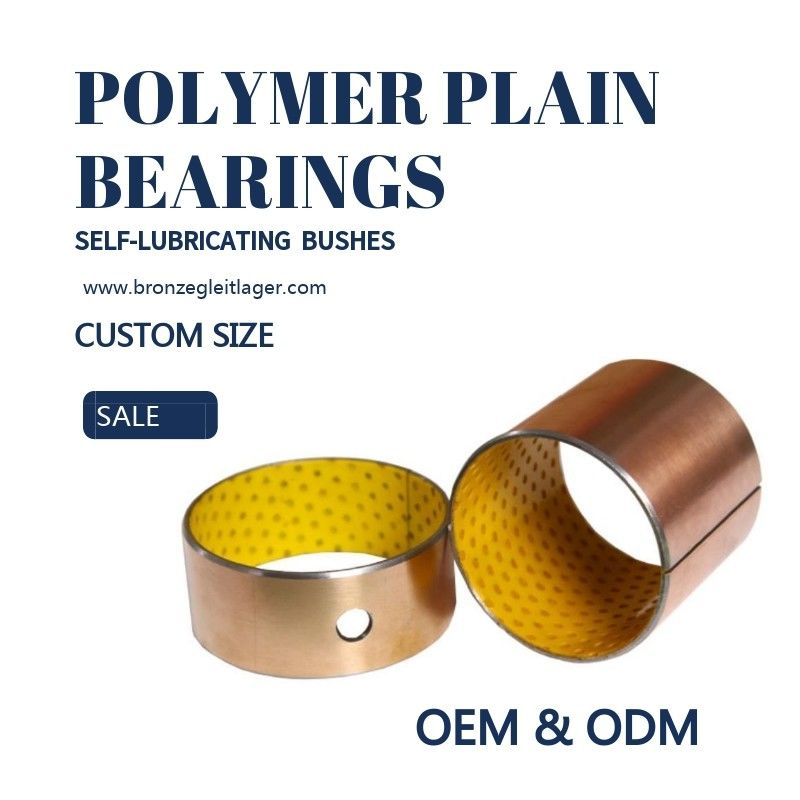Oil Hole Composite Yellow Polymer Plain Bearings Guide Sleeve Copper supplier