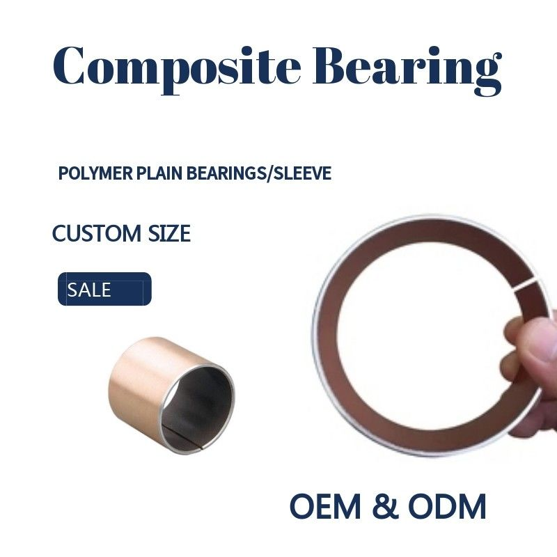 Polymer Plain Bearings Types Composite Self-lubricating Red PTFE Bushing Without Pb supplier