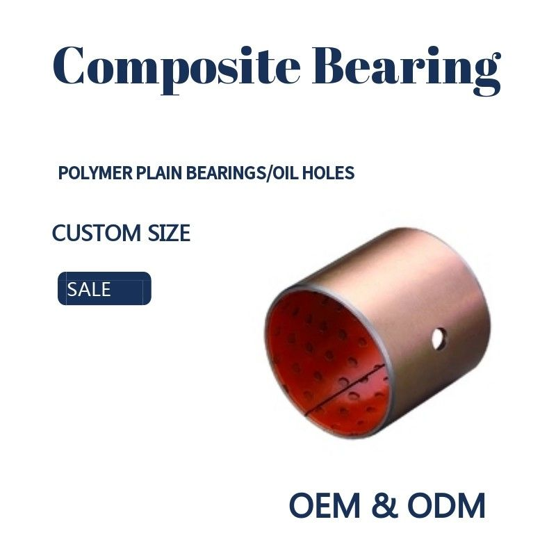 Steel Bronze Red Polymer Plain Bearings Split Bushes Tin / Copper Made To Order supplier