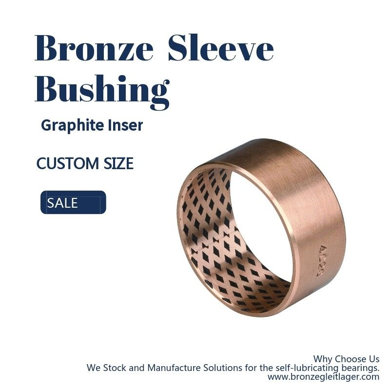 Thin Wall Graphite Plugged Bushing Metric And Inch Sizes Bronze Sleeve FB09G supplier
