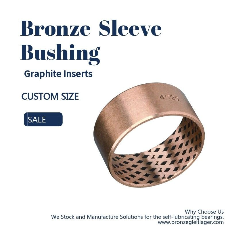 CuSn8P Bronze Sleeve Bushings With Graphite Qsn8-0.3+ Graphite Bronze Bushings 09G supplier
