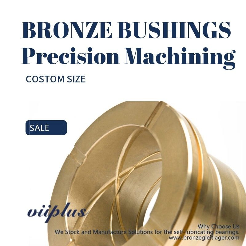 CNC Precision Machining Copper Flange Sleeve Bushing Oil Groove Costom Size supplier