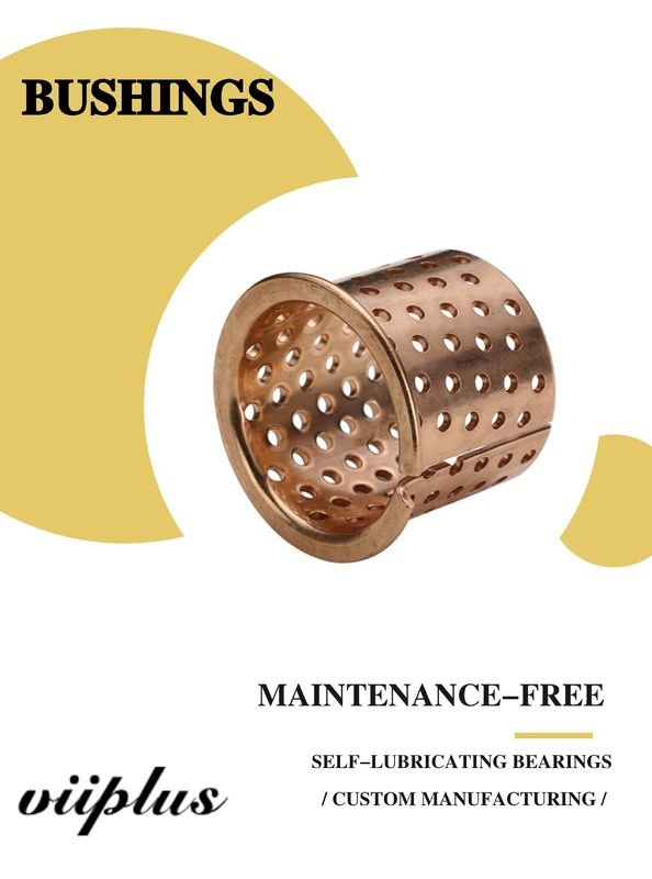 FB090 & 092 Tin Bronze Flange Slide Bearing Dimensional Tolerance Bronze Bushing CuSn8P (DIN 17662) DIN 1494 / ISO 3547 supplier