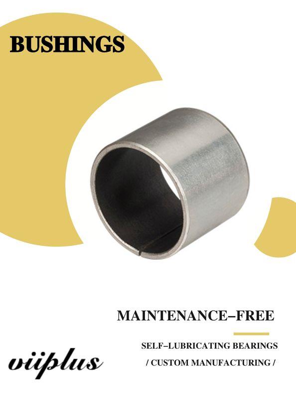 Stainless Steel Ptfe / Kevlar Fabric Lined Split 316 Composite Bearings Flanged Bushes
