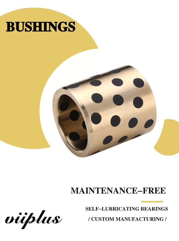 C86300 430B Manganese Cast Bronze Flanged Graphite Bushing Bearing & Plate Oil Grooves supplier