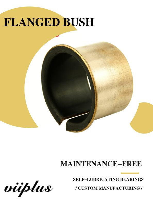 Custom Metal Backed Bearing Split Bushings Copper Plating, Flanged, High Quality supplier
