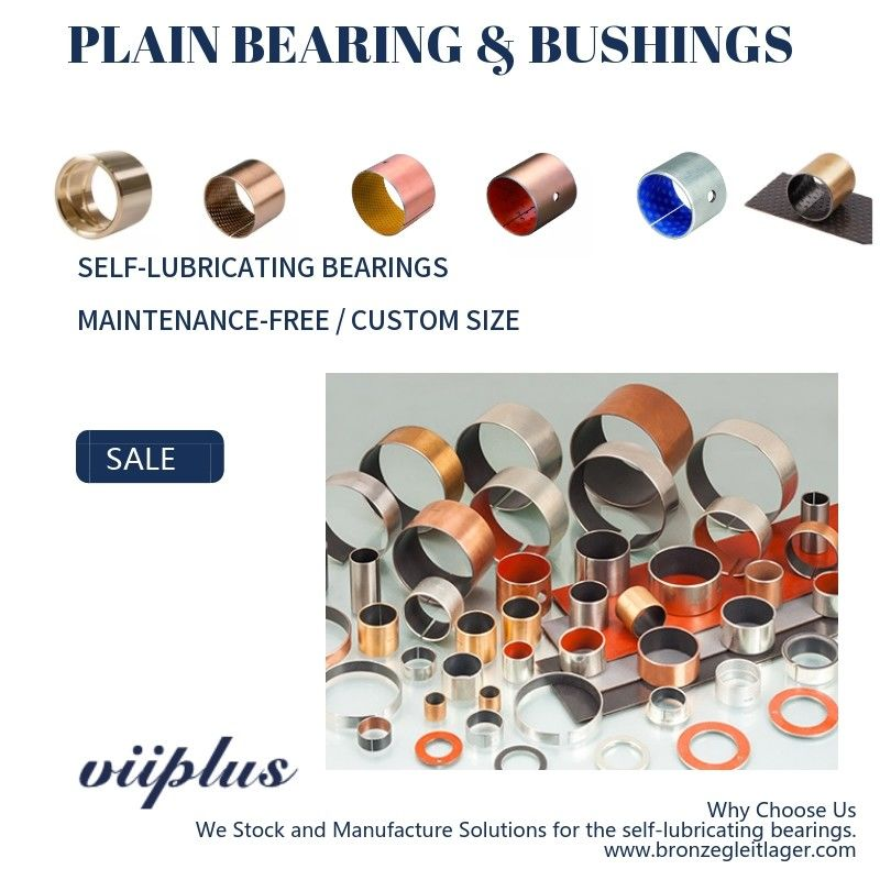 Sleeve Acetal Plastic POM Plain Bearings Grease - Lubricated Composite Bushings