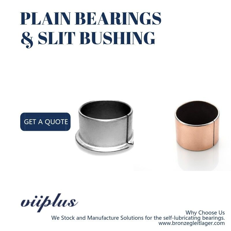 Customized Self Lubricating Slit Bronze Bushings & Sliding Bearings supplier
