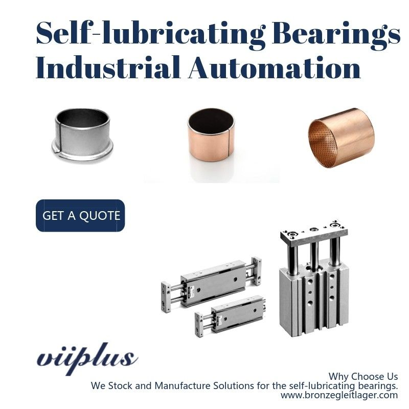 Straight Self Lubricating Plain Bearing / Bushings For Cylinder & Automatic Guide Rail supplier