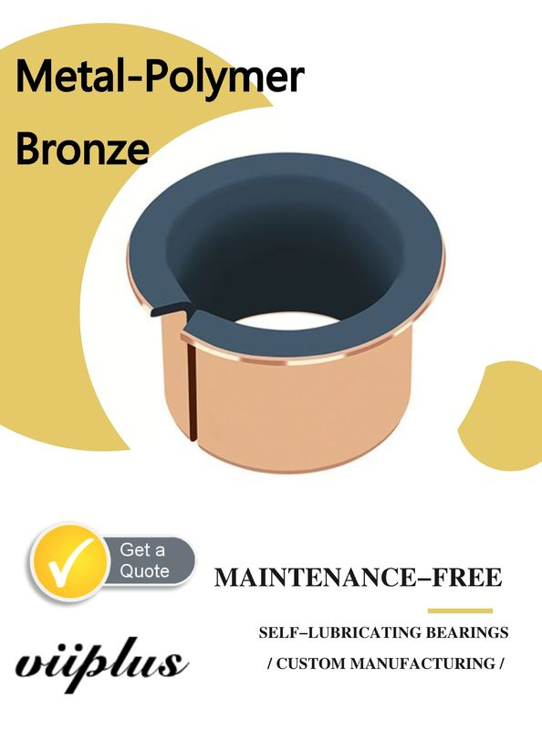 Metal Polymer Split Plain Bearing With Sintered Bronze Layer Filled With PTFE supplier