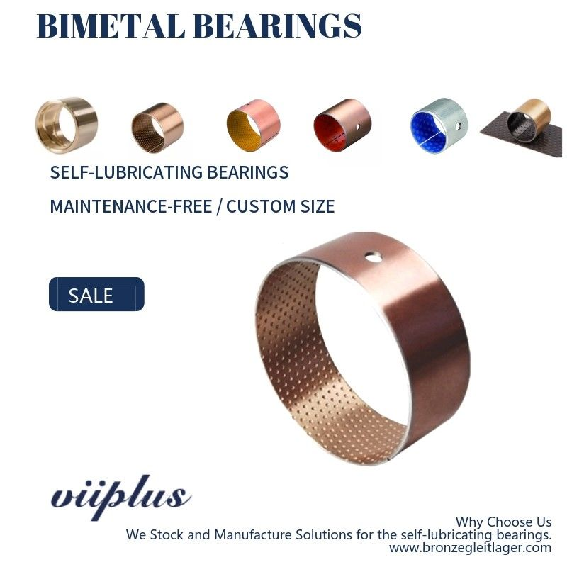 Bimetallic Metric Flanged Sleeve Bearing Automotive And Construction Machinery Parts supplier