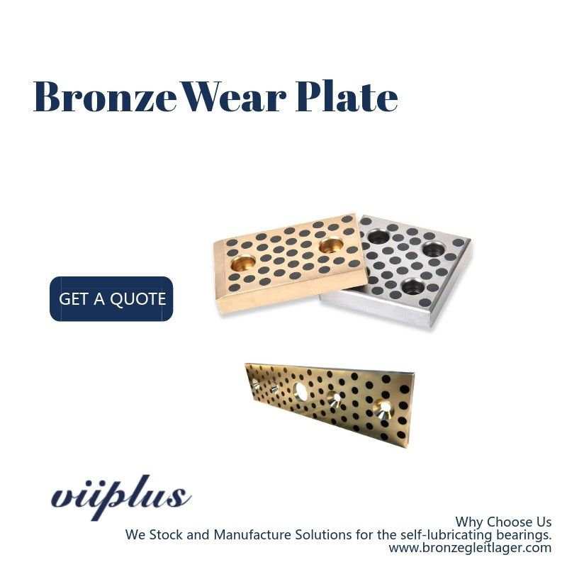 CNC Bronze Steel & Self Lubricating Wear Plates Inch Oilimpregnated Graphite Plugs