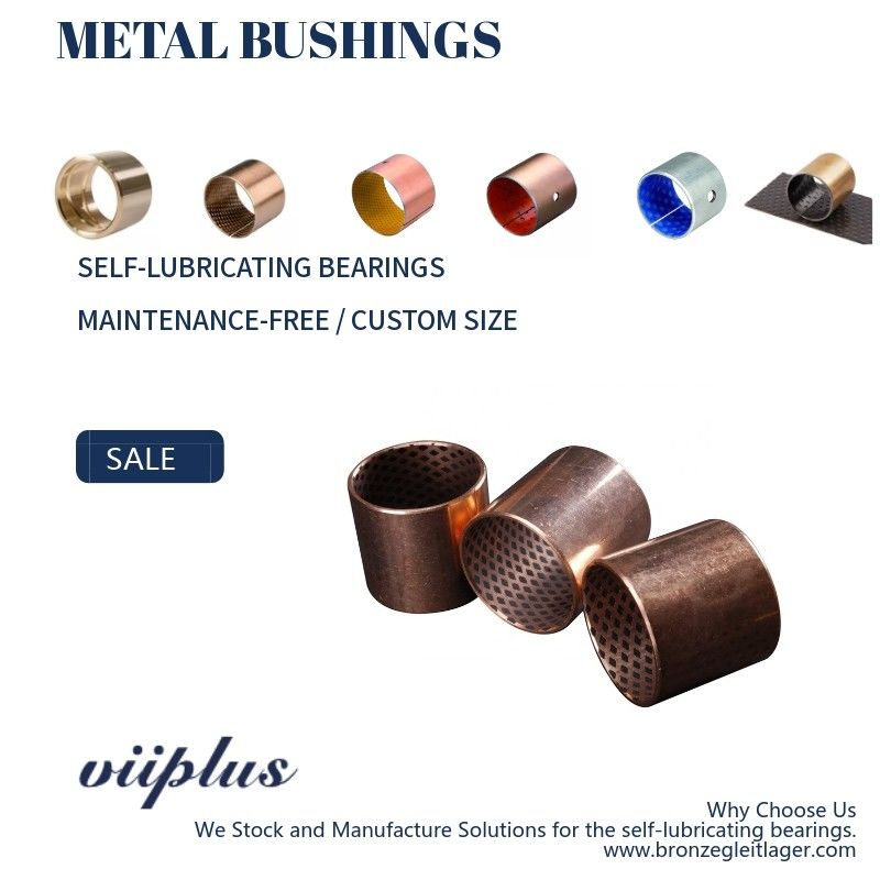 Underwater Wrapped Bronze Bearings Bronze Plain Bearings CuSn8 With Graphite