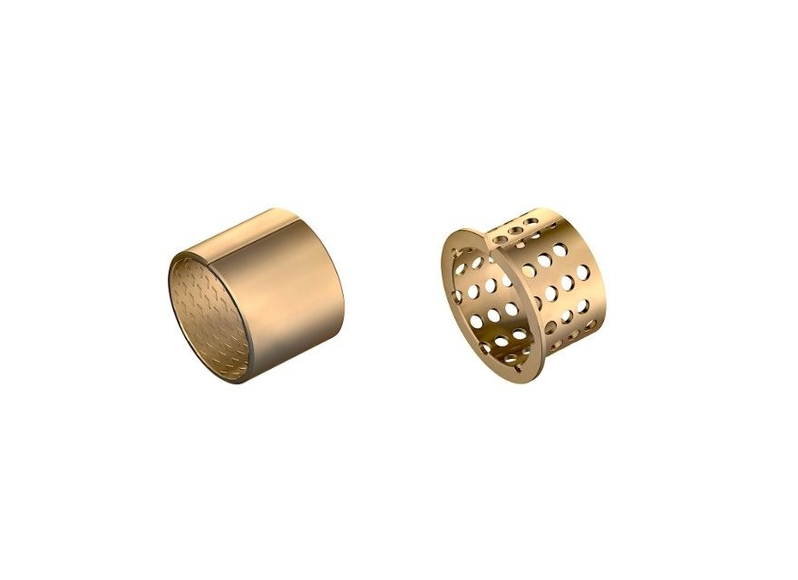 Wrapped Split Type Bronze Bushing CuSn8P DIN 1494 / ISO 3547 For Containers