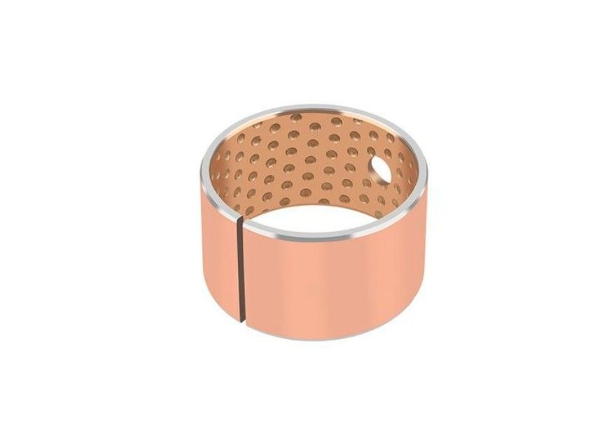 Steel Copper Plated Or Tin Plated Dry Sliding Bearing Bushings CuPb10Sn10 Material