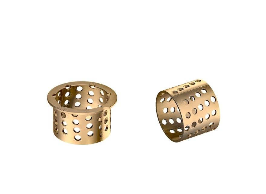 Size 45-50-40mm Bronze Sleeve Bushings Perforated Split Type For Rollers