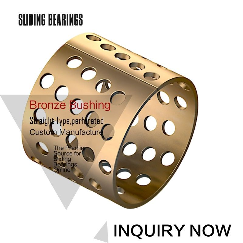 High Load Capacity Bronze Gleitlager CuSn8 Material 20-23-15mm Perforated