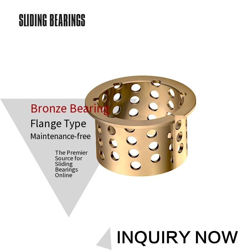 Tin Bronze Sprocket Bushing 5050 Flange Collar Bearings CuSn8 Wear Resistance
