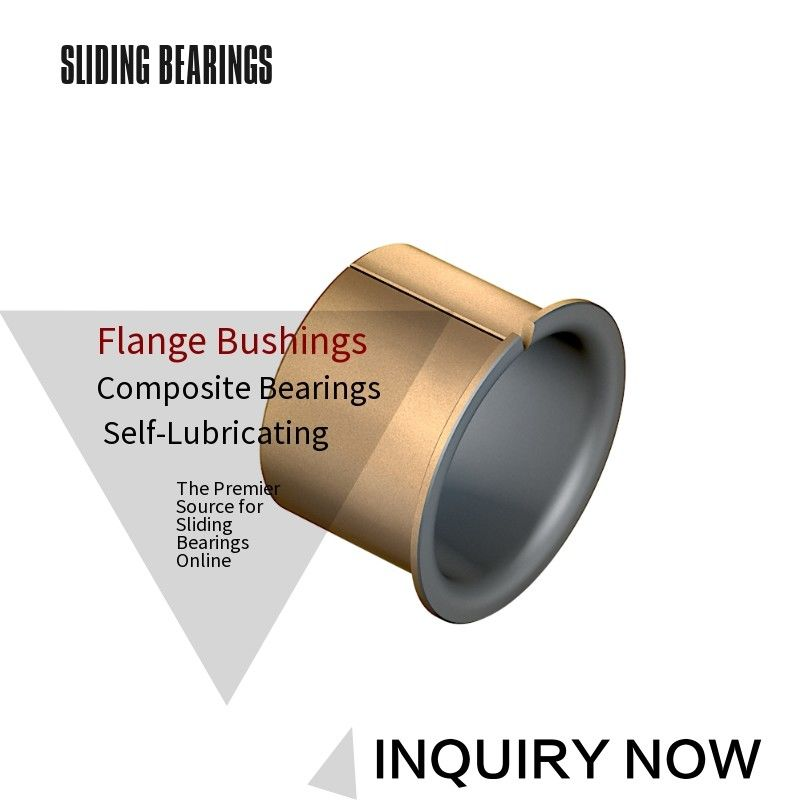Bronze Backed Bushing, Bronze with PTFE - Metric Bearing for Bridge