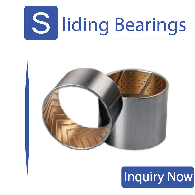 Steel Backing Bimetal Bearings Oil Grooves & Indentations Customer Size Wrapped Bushes supplier