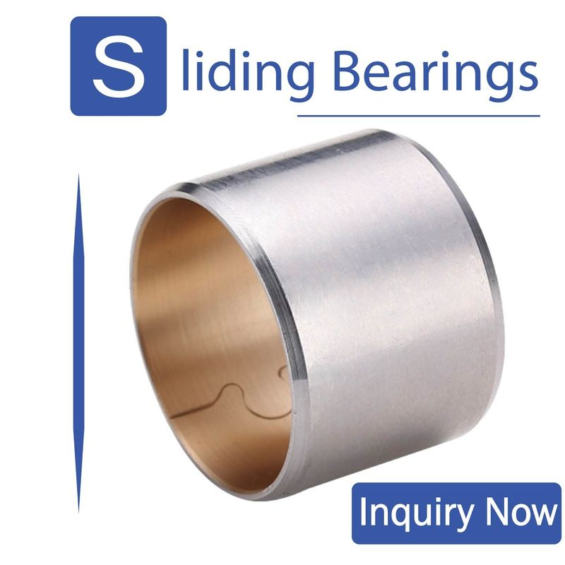 Bimetal 800 Split Type Bimetal Bearing Bushes Buckle Steel Backed Solid Sleeve Bushing supplier