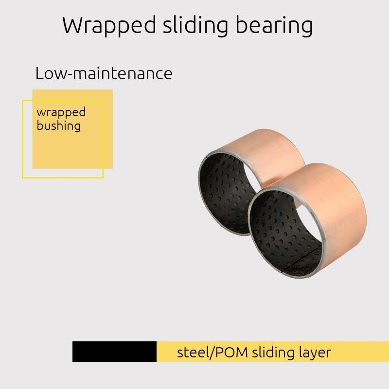 Wrapped Sliding Bearing Steel / Black POM Sliding Layer DIN 1494/ ISO 3547