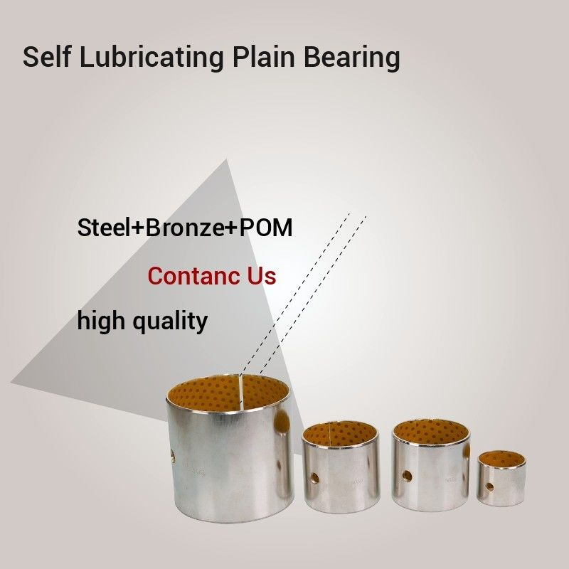 POM Indents Self Lubricating Plain Bearing Bronze Metal Polymer Bearings Inch Custom Size