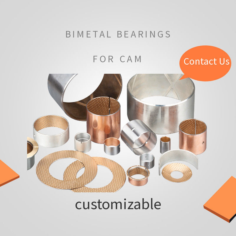 Low - Noise Cam Bimetal Bearings Bushings Camshaft Bushing Costomized