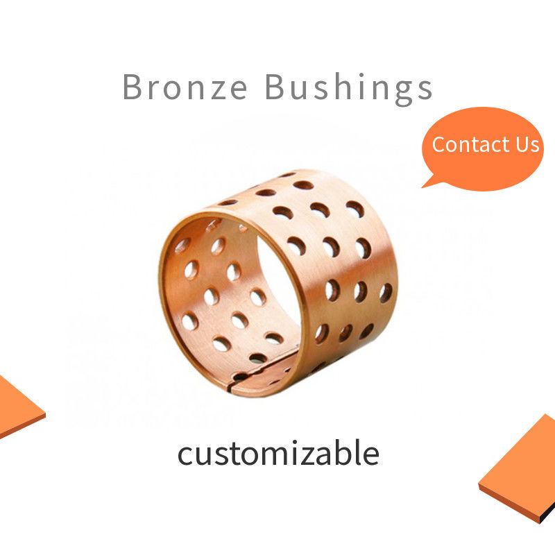 Crane Bronze Bushing Lubrication Pockets CuSn8 Material Inside Diameter 80mm OD85mm