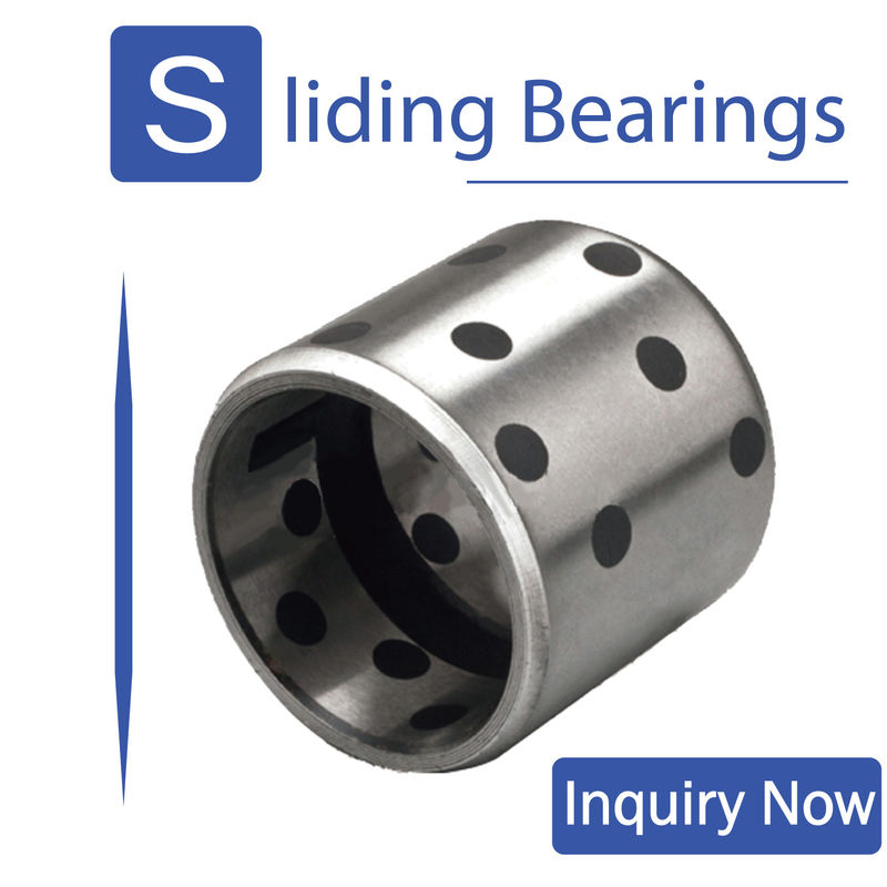 Steel Base Inlaid Graphite Bearings High Temperature For Winder Support / Crane Support