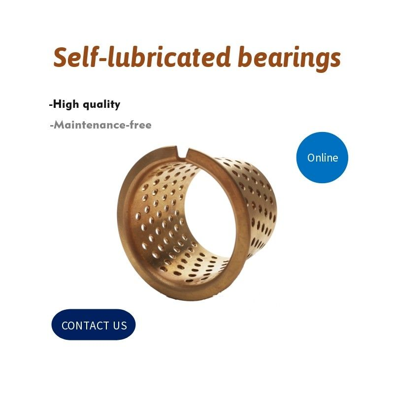 Cylindrical Bushes Grease Reservoirs Plain Type Bearing Cusn8 Oil Holes Rohs Standard