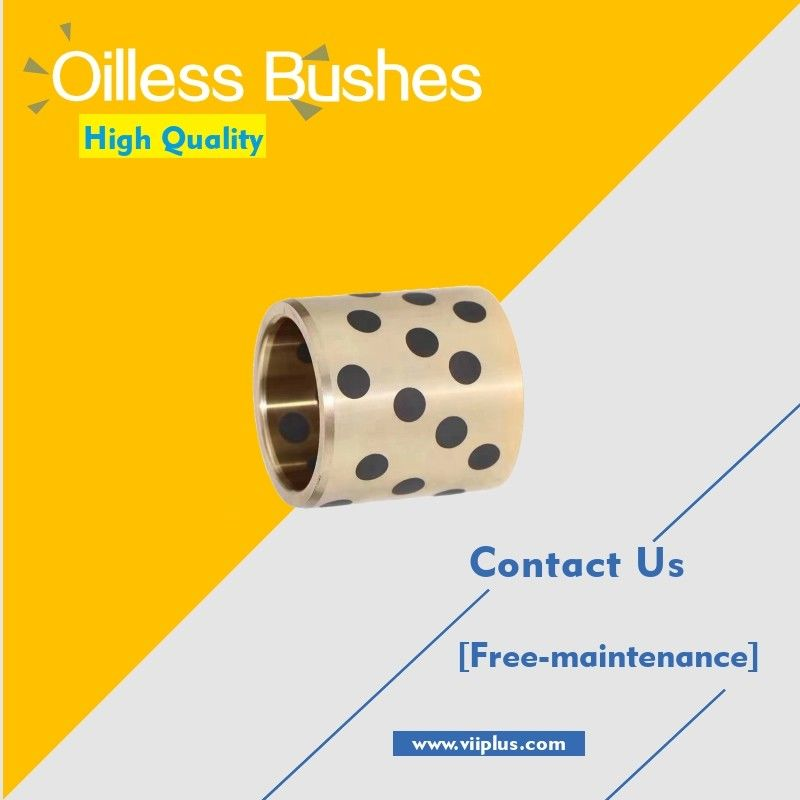 Oilless Bushes Plugged Graphite Bronze Straight & Flange Type