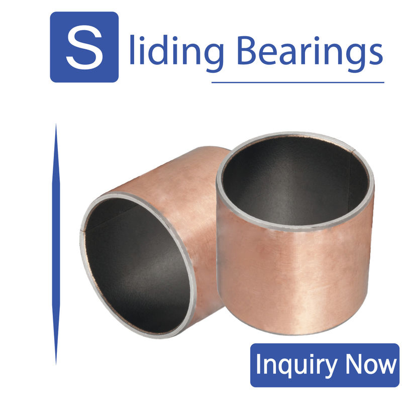 Sintered PTFE CuPb10Sn Polymer Plain Bearings In Agriculture And Construction Industry supplier