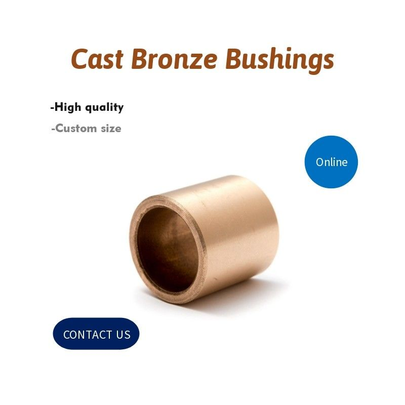 Continuous Cast Bronze SAE 660 C932 Sleeve Grooved Bushings Stock Sizes