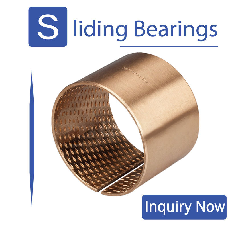 CuSn8 Wrapped Bronze Bearings , Bronze Plain Bearings CuSn6.5P0.1 supplier