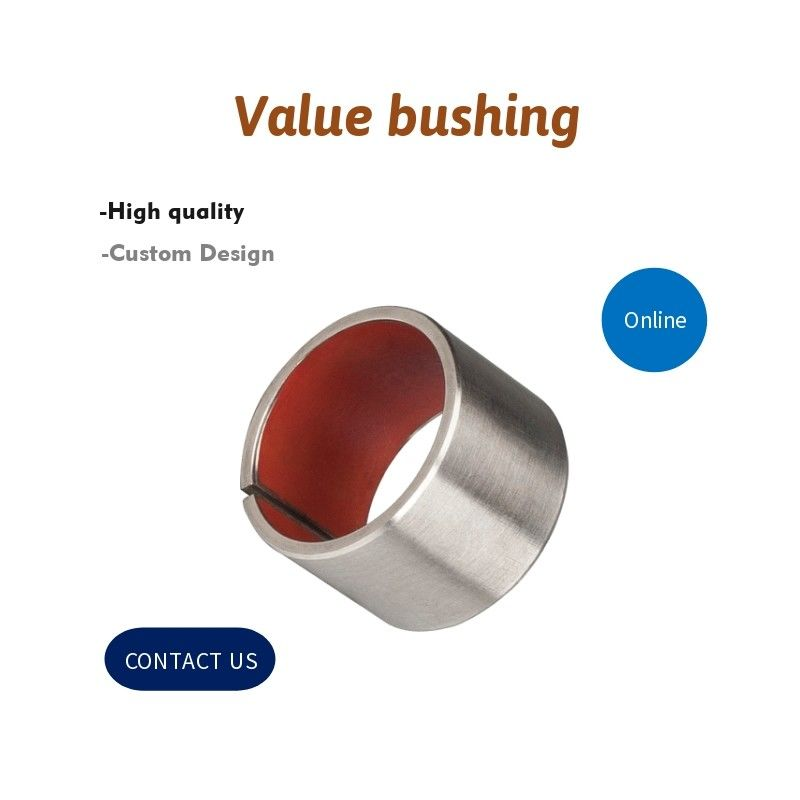 Tin - Plated Steel / PTFE Dry Valve Bushing , Composite Sliding Bearing