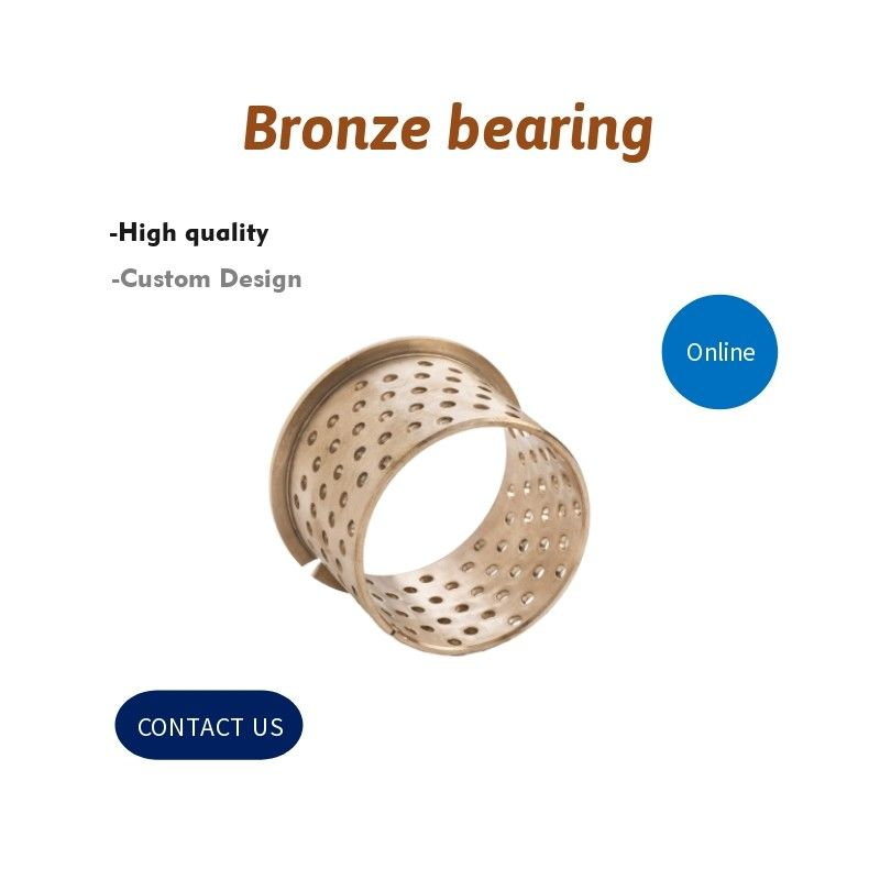 Wrapped Split Sleeve 092 Flange Bronze Bearing Bush CuSn8 With Lubricating Holes