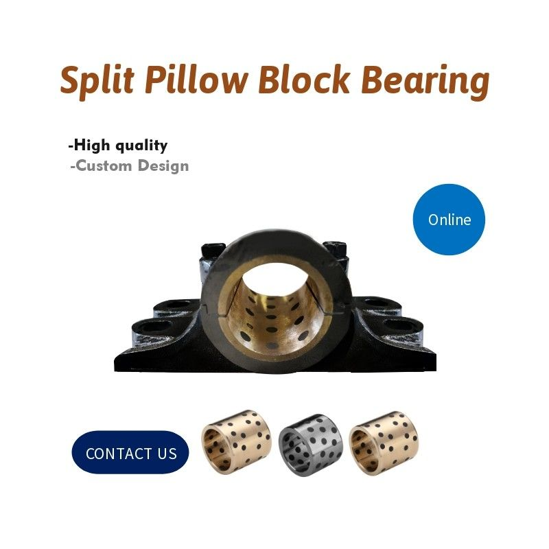 Pillow Blocks Oilless Bronze Graphite Plugged Bushings Housing * Bearings