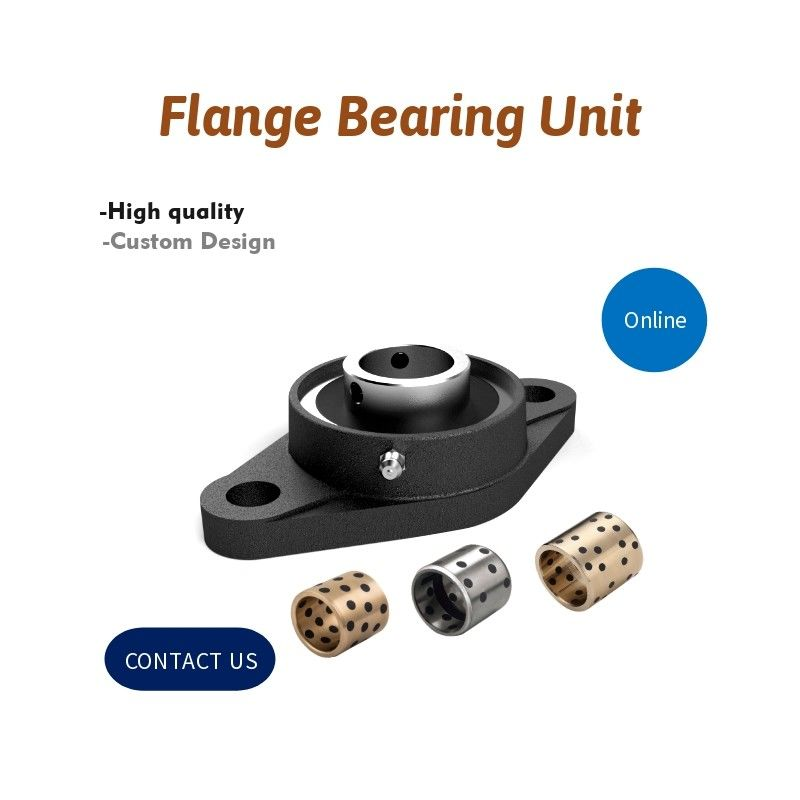 Oiles Pillow Block Flange Graphite Bushings Plain Bearing Unit