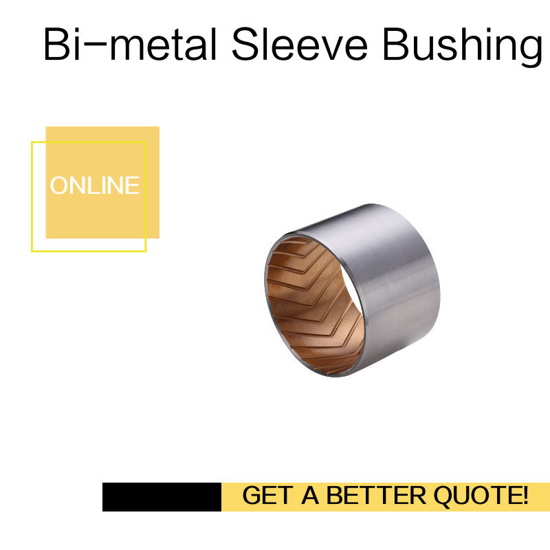Bimetal Lead-Free Plain Thin Walled bearing Imperial & Metric Sizes Bush With Grooves